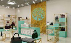 Дизайн интерьера магазина сумок торговое оборудование ТИФФАНИ Дизайн 03