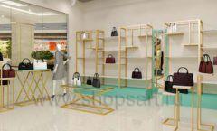 Дизайн интерьера магазина сумок торговое оборудование ТИФФАНИ Дизайн 06