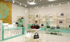Дизайн интерьера магазина сумок торговое оборудование ТИФФАНИ Дизайн 07