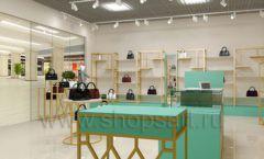 Дизайн интерьера магазина сумок торговое оборудование ТИФФАНИ Дизайн 08