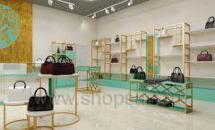 Дизайн интерьера магазина сумок торговое оборудование ТИФФАНИ Дизайн 10