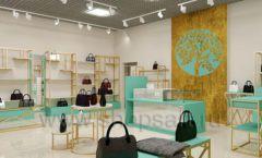 Дизайн интерьера магазина сумок торговое оборудование ТИФФАНИ Дизайн 11