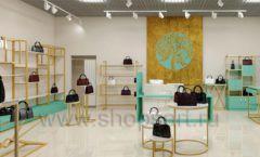 Дизайн интерьера магазина сумок торговое оборудование ТИФФАНИ Дизайн 12