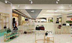 Дизайн интерьера магазина сумок торговое оборудование ТИФФАНИ Дизайн 13