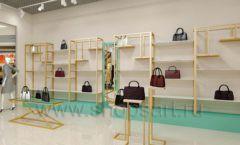 Дизайн интерьера магазина сумок торговое оборудование ТИФФАНИ Дизайн 14