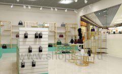 Дизайн интерьера магазина сумок торговое оборудование ТИФФАНИ Дизайн 16
