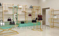 Дизайн интерьера магазина сумок торговое оборудование ТИФФАНИ Дизайн 19