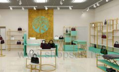Дизайн интерьера магазина сумок торговое оборудование ТИФФАНИ Дизайн 20