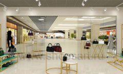 Дизайн интерьера магазина сумок торговое оборудование ТИФФАНИ Дизайн 21