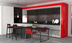 Кухня для офиса КРАСНАЯ ЛИНИЯ Вид 30