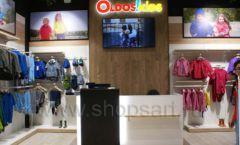 Торговое оборудование детского сетевого магазина OLDOS KIDS ТРЦ Каширская Плаза коллекция РАДУГА Фото 03