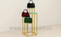 Стойка для магазина сумок квадратная торговое оборудование ТИФФАНИ