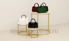 Стойки для магазина сумок круглые торговое оборудование ТИФФАНИ