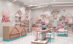 Дизайн интерьера детского магазина торговое оборудование МАМИН ДОМ Дизайн 01
