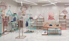 Дизайн интерьера детского магазина торговое оборудование МАМИН ДОМ Дизайн 03