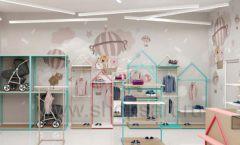 Дизайн интерьера детского магазина торговое оборудование МАМИН ДОМ Дизайн 09