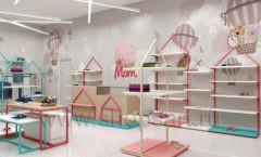 Дизайн интерьера детского магазина торговое оборудование МАМИН ДОМ Дизайн 12