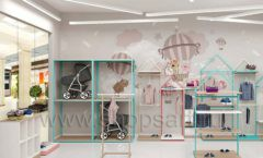 Дизайн интерьера детского магазина торговое оборудование МАМИН ДОМ Дизайн 21