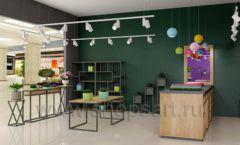 Дизайн интерьера магазина цветов торговое оборудование БУКЕТ Дизайн 01
