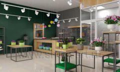 Дизайн интерьера магазина цветов торговое оборудование БУКЕТ Дизайн 02