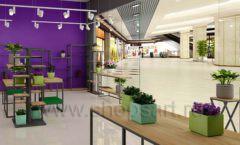 Дизайн интерьера магазина цветов торговое оборудование БУКЕТ Дизайн 06