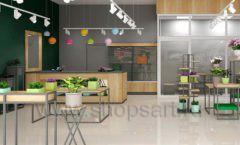 Дизайн интерьера магазина цветов торговое оборудование БУКЕТ Дизайн 07
