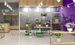 Дизайн интерьера магазина цветов торговое оборудование БУКЕТ Дизайн 08