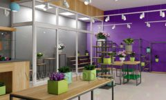 Дизайн интерьера магазина цветов торговое оборудование БУКЕТ Дизайн 09