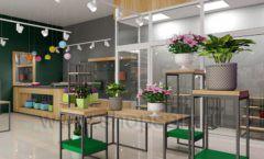 Дизайн интерьера магазина цветов торговое оборудование БУКЕТ Дизайн 10