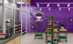 Дизайн интерьера магазина цветов торговое оборудование БУКЕТ Дизайн 16