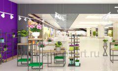 Дизайн интерьера магазина цветов торговое оборудование БУКЕТ Дизайн 19