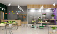 Дизайн интерьера магазина цветов торговое оборудование БУКЕТ Дизайн 23