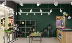 Дизайн интерьера магазина цветов торговое оборудование БУКЕТ Дизайн 24