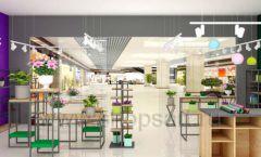Дизайн интерьера магазина цветов торговое оборудование БУКЕТ Дизайн 26