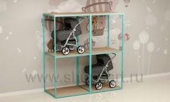 Торговый стеллаж для колясок торговое оборудование МАМИН ДОМ