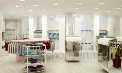Дизайн интерьера детского магазина Винни Одежда ТЦ Юнимолл коллекция 21 ВЕК Дизайн 09