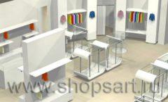 Дизайн интерьера детского магазина Винни ТЦ Dream House 3 этаж коллекция 21 ВЕК Дизайн 1