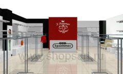 Дизайн интерьера детского магазина 3 Pommes коллекция 21 ВЕК Дизайн 01