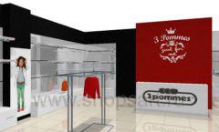 Дизайн интерьера детского магазина 3 Pommes коллекция 21 ВЕК Дизайн 03