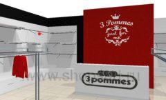 Дизайн интерьера детского магазина 3 Pommes коллекция 21 ВЕК Дизайн 04