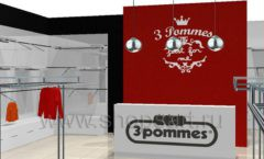 Дизайн интерьера детского магазина 3 Pommes коллекция 21 ВЕК Дизайн 05