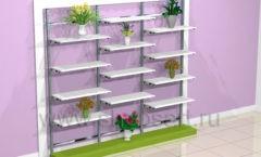 Стеллаж для цветочного магазина торговое оборудование АРОМАТНЫЙ МИР