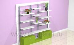 Стеллаж для магазина цветов с ящиками торговое оборудование АРОМАТНЫЙ МИР
