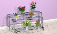 Этажерка для цветочного магазина торговое оборудование АРОМАТНЫЙ МИР