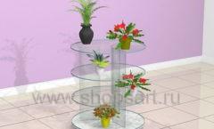 Стойка для магазина цветов круглая торговое оборудование АРОМАТНЫЙ МИР