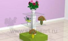 Стойка для магазина цветов торговое оборудование АРОМАТНЫЙ МИР