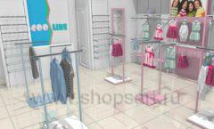 Дизайн интерьера детского магазина ACOO LIKE коллекция РАДУГА Дизайн 01
