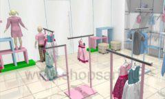 Дизайн интерьера детского магазина ACOO LIKE коллекция РАДУГА Дизайн 03