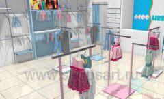 Дизайн интерьера детского магазина ACOO LIKE коллекция РАДУГА Дизайн 04