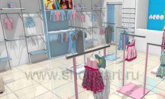 Дизайн интерьера детского магазина ACOO LIKE коллекция РАДУГА Дизайн 06